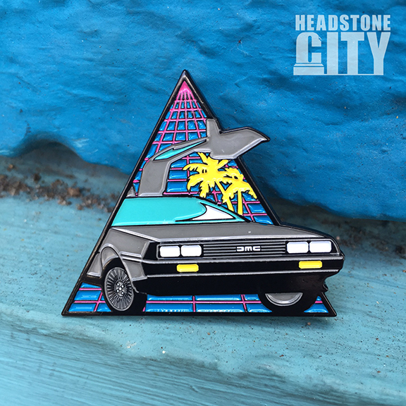 delorean-enamel-pin-headstonecity