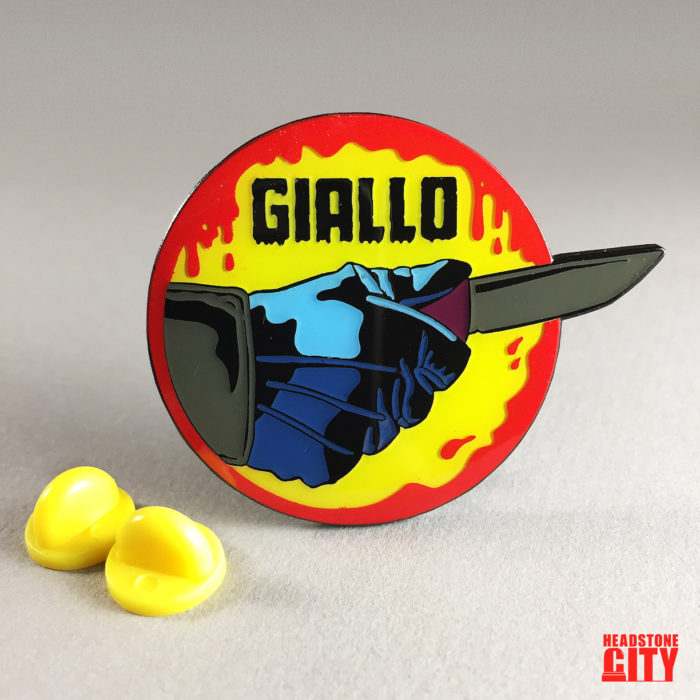 Giallo Horror Enamel Pin